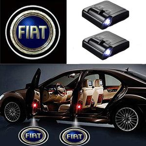 2 Pcs LED Car Door Logo Ghost Shadow Light for FIAT Free Shipping