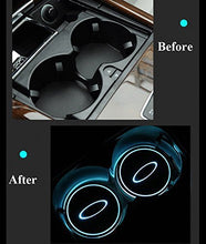 Load image into Gallery viewer, 2X LED Car Cup Holder Lights for BMW  Logo with 7 Colors Changing USB Charging Mat