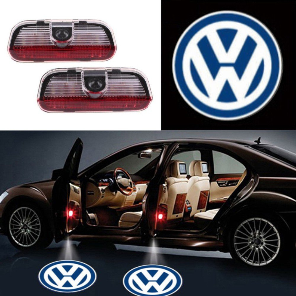 2X Ghost Shadow Light LED Welcome Projector Courtesy Step Lights Fit Volkswagen Free Shipping