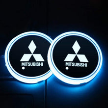 Load image into Gallery viewer, 2X LED Car Cup Holder Lights for Mitsubishi With 7 Colors Changing