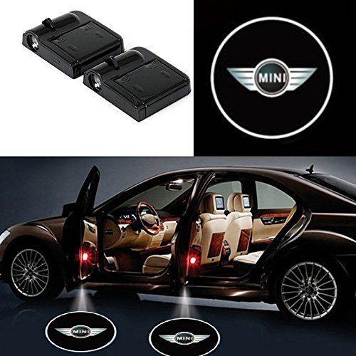 2 Pcs LED Car Door Logo Ghost Shadow Light for Mini Free Shipping