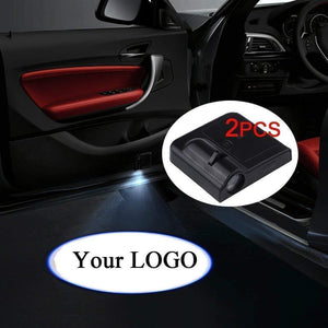 2 Pcs LED Car Door Logo Ghost Shadow Light for Chevy Free Shipping