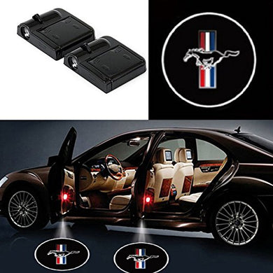 2 X LED Car Door Projector Lights for Mustang Free Shipping