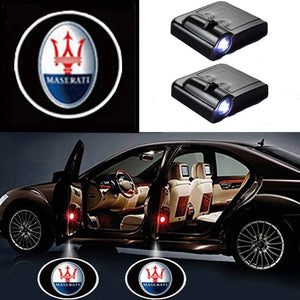 2 Pcs LED Car Door Logo Ghost Shadow Light for Maserati  Free Shipping