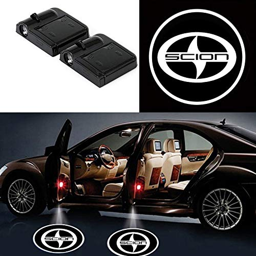2 Pcs LED Car Door Logo Ghost Shadow Light for Scion Free Shipping
