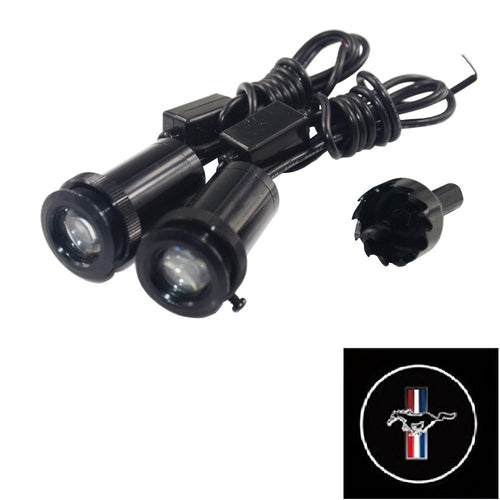 2Pcs  Puddle Lights Car Door Projector Lights Fit Mustang Free Shipping