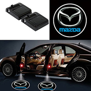 2 Pcs LED Car Door Logo Ghost Shadow Light for Mazda Free Shipping