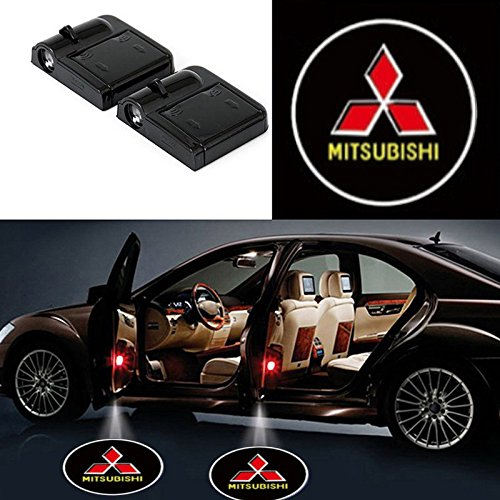 2 Pcs LED Car Door Logo Ghost Shadow Light for MITSUBISHI Free Shipping