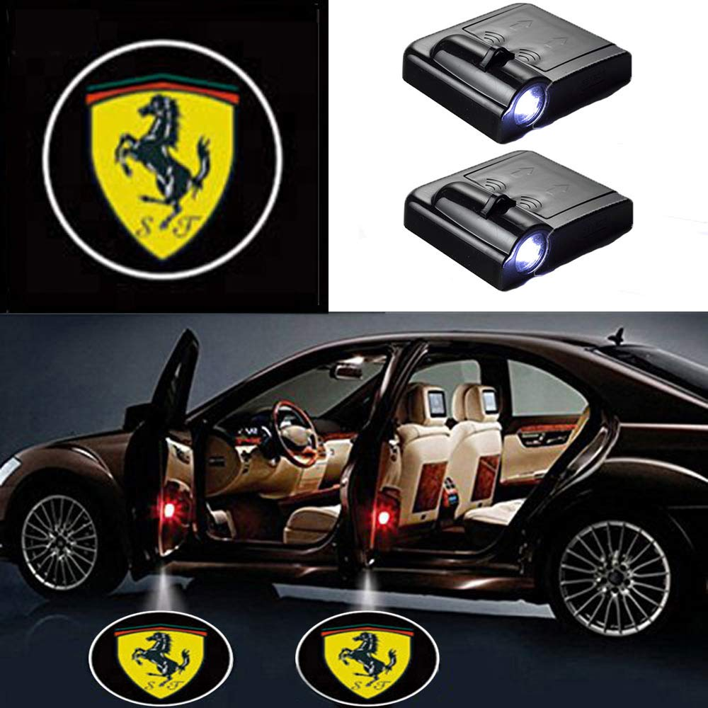 2 Pcs LED Car Door Logo Ghost Shadow Light for Porsche Free Shipping