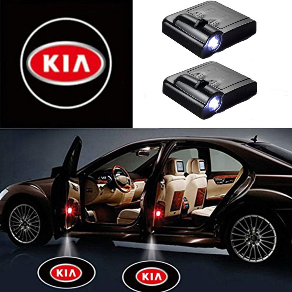 2 Pcs LED Car Door Logo Ghost Shadow Light for KIA Free Shipping