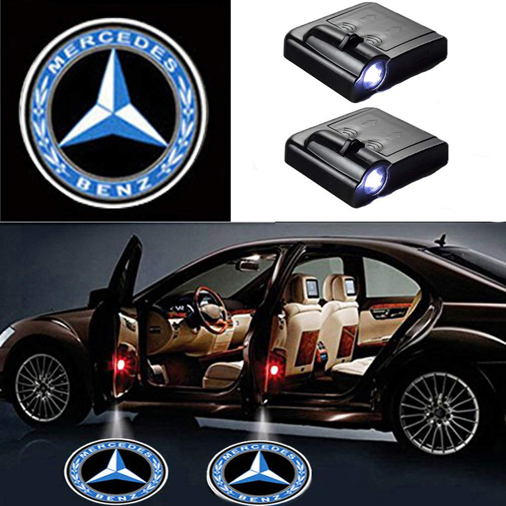 benz door welcome projector lights