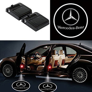 2XLED Car Door Projectors Ghost Shadow Lights for Mercedes Free Shipping