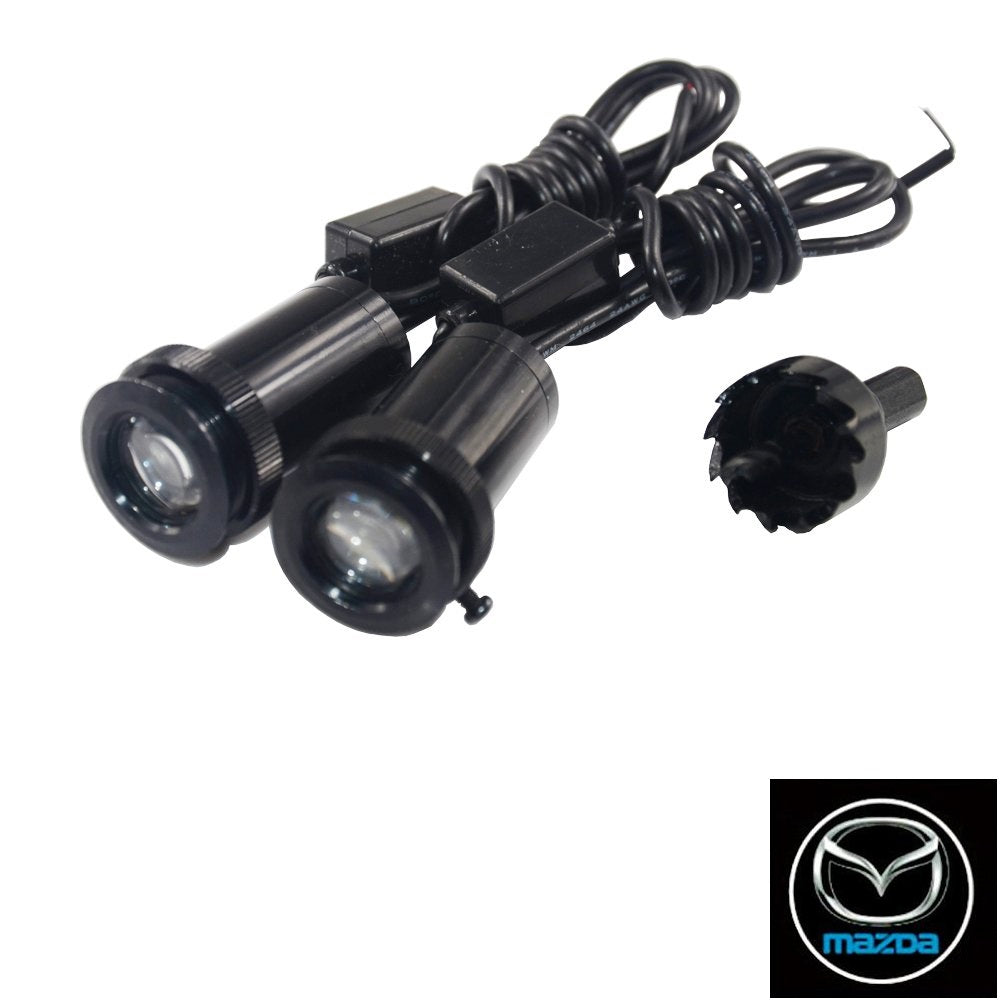 2Pcs  Puddle Lights Car Door Projector Lights Fit Mazda Free Shipping