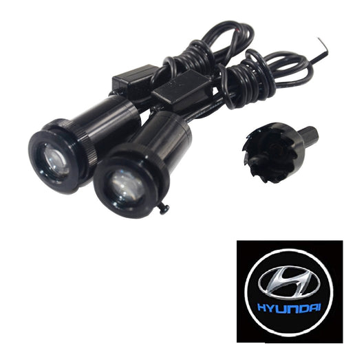 2Pcs  Puddle Lights Car Door Projector Lights Fit Hyundai Free Shipping