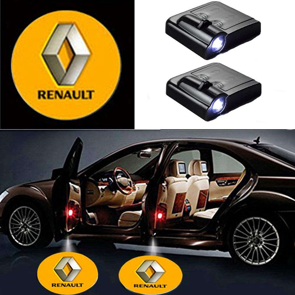 2 Pcs LED Car Door Logo Ghost Shadow Light for Renault Free Shipping