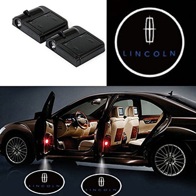 2 Pcs LED Car Door Logo Ghost Shadow Light for Lincoln Free Shipping