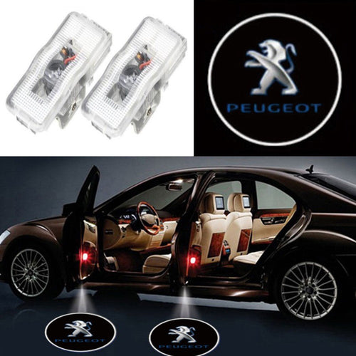 2X Ghost Shadow Light LED Welcome Projector Courtesy Step Lights Fit Peugeot Free Shipping
