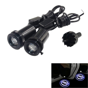 2Pcs  Puddle Lights Car Door Projector Lights Fit Nissan Free Shipping
