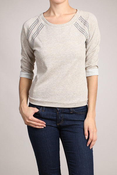 Natalie Studded Sweatershirt