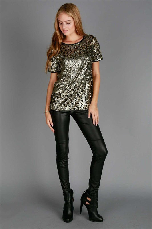 Gold Sequin Shirt