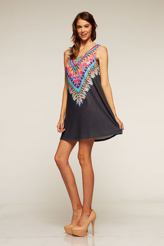 Black Tribal Print Tunic