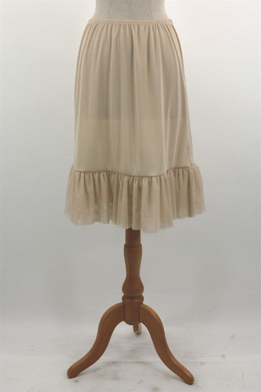 Tulle Ruffle Skirt Extender- 2 colors