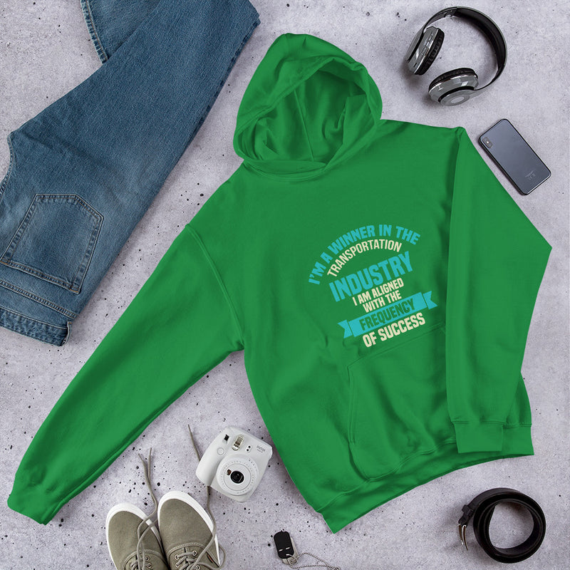 I AM A WINNER IN THE TRANSPORTATION INDUSTRY MEN'S HOODIE