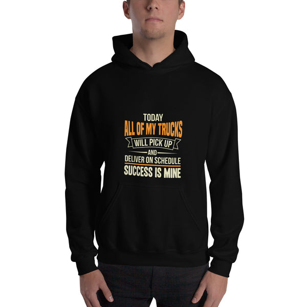 My Trucks Deliver on Time Men's Hoodie