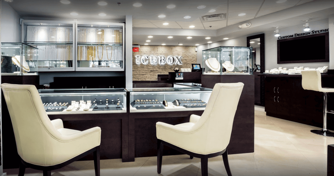 Ice Box Jewelers upgrades their store every year with the latest display case lighting and overhead diamond led lighting from Lighting 4 Diamonds.