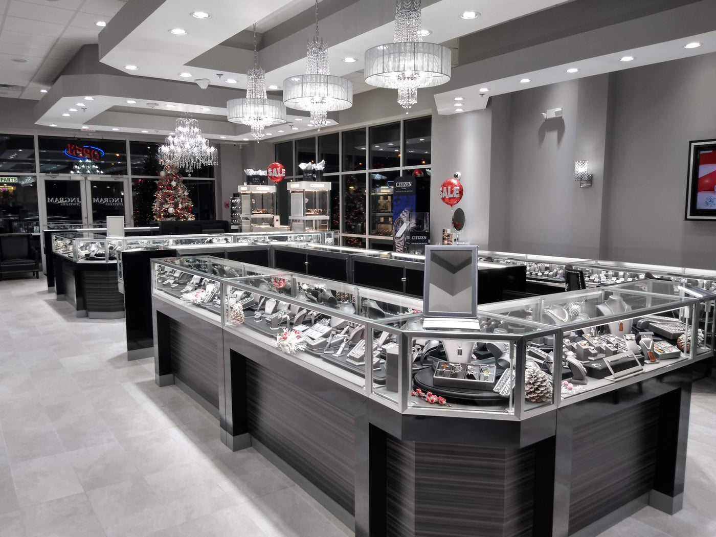 Ingrahm Jewelers took advantage of our economical pricing and high quality LED Jewelry Lights and installed them in the entire store. 1/2 locations in Tennessee.
