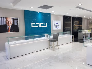 Effy Jewelers in the Caribbean and more completed more than 2 dozen full jewelry store build outs. All with LED Jewely Lighting, Brand New Showcases, and complete ceiling plans done by Lighting 4 Diamonds.