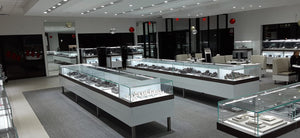 Wedding Day Diamonds complete store installation. Jewelry Lighting and Custom Showcase manufacturing with high quality materials by Lighting 4 Diamonds.