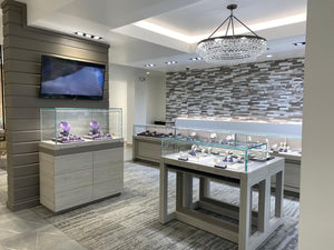 Caves Jewelry in Texas did a complete jewelry store build out with LED Display Case Lighting, high quality materials, and recessed led diamond lights.