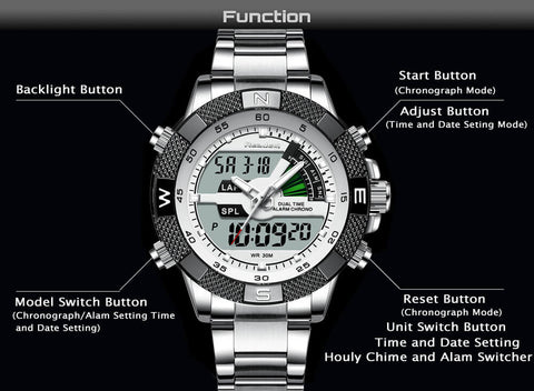 Analog-digital Display Sport watch