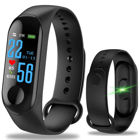 Smartwatch hombre mujer deporte Fitness pantalla impermeable presión arterial - dswvirtual-shop