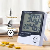 LCD DIGITAL CLOCK TEMPERATURE HUMIDITY WEATHER STATION