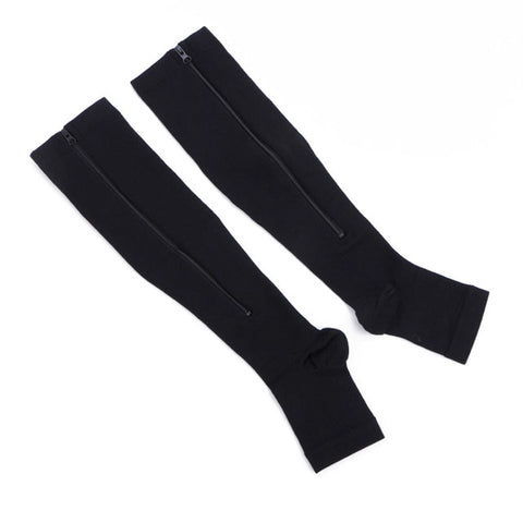 BURN FAT ZIPPER COMPRESSION SOCKS PREVENT VARICOSE VEINS MEN WOMEN