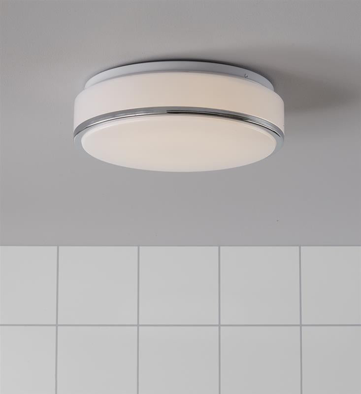 GLOBAL Plafond 28cm Led Chrome/White