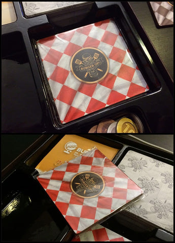 How the coasters will look in the final packaging