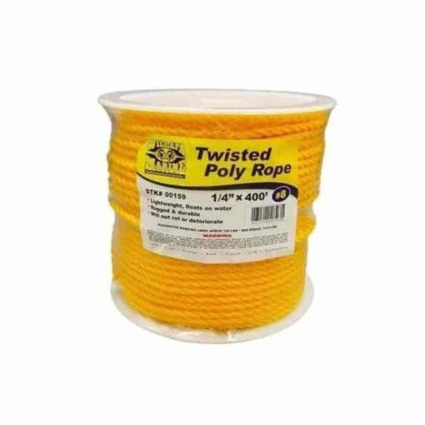 "1/4""x400' Twisted Poly Rope - Willapa Outdoor"