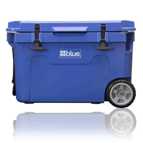 55 Quart Ice Vault Roto-Molded Cooler (w/Wheels) - Blue Coolers - Willapa Outdoor