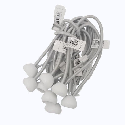 "Ball Bungee Cords - 5"" Size - White - Willapa Outdoor"