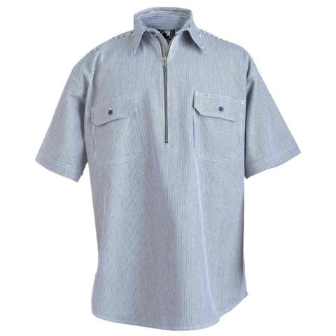 Berne Zip Front Short Sleeve Logger Shirt - Willapa Outdoor