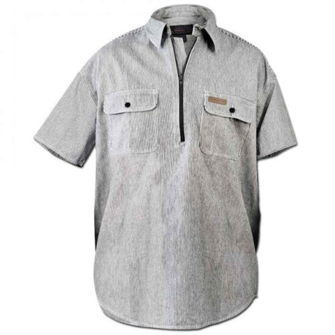 Hickory Shirt Co. Short Sleeve 1/2 Zip Shirt - Willapa Outdoor