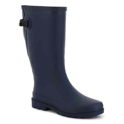 Women's Dot Pop Wide-Calf Rain Boot - Navy - Willapa Outdoor