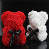 25cm Cute Teddy Bear PE Foam Rose Flower