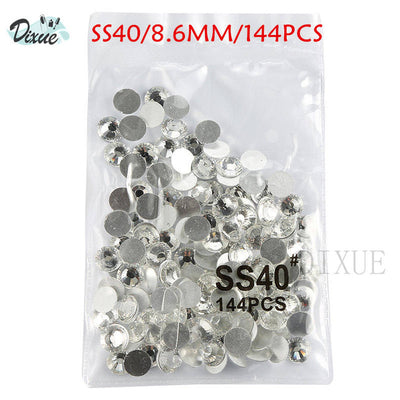 rhinestone crystal AB clear SS3-SS40(1.3mm-8.4mm)for Nails 3D nail art