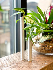 scent stix aluminum packaging tubes upcycled into planters