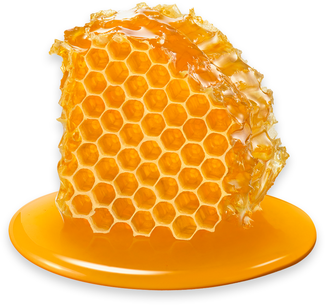 A raw honeycomb.