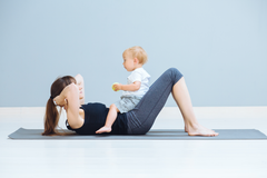 tiny tot crunches workout with baby kids